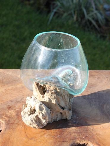 Bubble Glass Sculpture Mini Indonesian Root Furniture