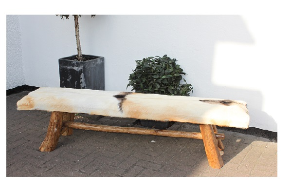 Goat Skin Bench 175 Indonesian Root Furniture Products